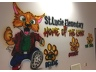 New Kids at Hope inspired school logo and mascot artwork at St. Lucie Elementary created by artist Sylvester Cooper.