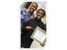 RTVYI client, Demetrius Killcreak, and instructor Demetria Williams, celebrating his graduation from Anger Replacement Training on January 19, 2017.